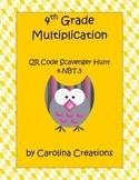 QR Code 4th Grade Common Math Multiplication Scavenger Hun