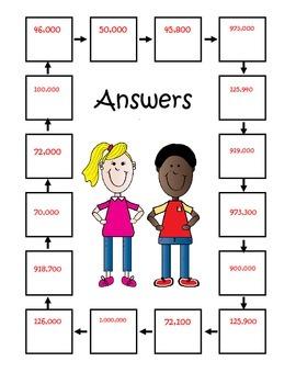 QR Code 4th Grade Rounding Math Scavenger Hunt 4.nbt.3
