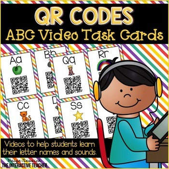 QR Code ABC Videos Task Cards