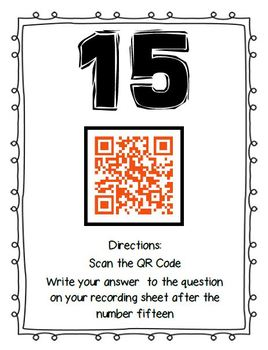 QR Code Activity: Get to Know the Teacher - Back to School