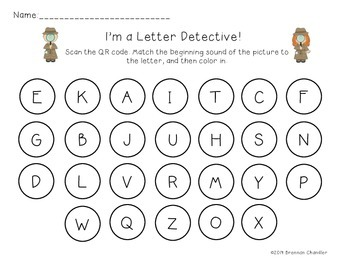 QR Code Activity: Inital Constant Letters