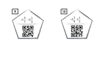 QR Code Activity - Multiplying Signed Fractions