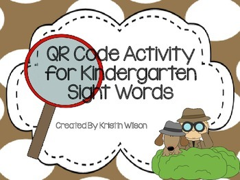 QR Code Activity for Kindergarten Sight Words