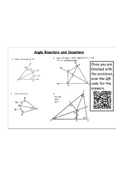 QR Code Activity for Properties of Triangles