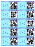 QR Code Add/Subtract Fractions with Common Denominators Ta