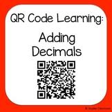 QR Code Adding Decimals Worksheets