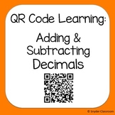 QR Code Adding and Subtracting Decimals Worksheets