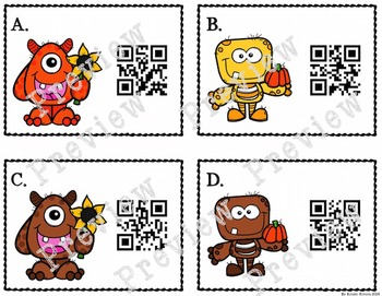 QR Code Addition - Fall Monster Themed
