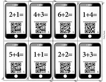 QR Code Addition - Flash Cards - FREE