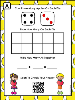 QR Code Addition Mats -Apple Theme