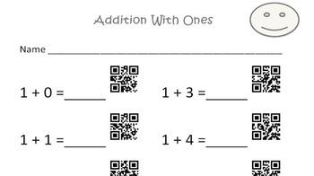 QR Code Addition Sheets