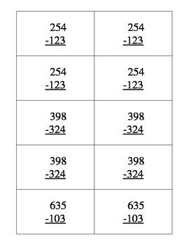 QR Code Subtraction Task Cards