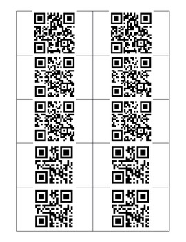 QR Code Addition Task Cards