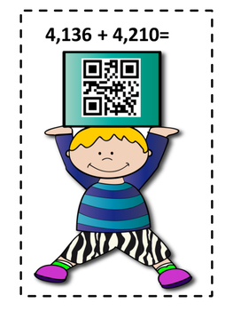 QR Code Addition Task Cards
