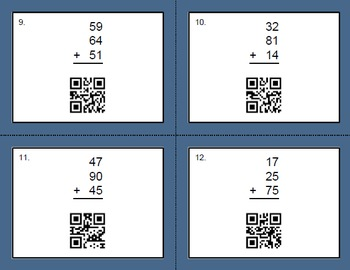 QR Code Addition Task Cards Bundle