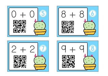 QR Code Addition Task Cards - Doubles, Near Doubles and Friends of 10