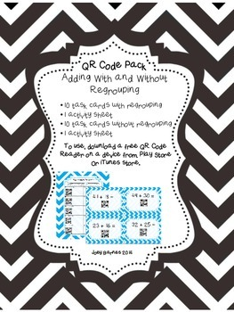 QR Code Addition With and Without Regrouping