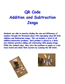 QR Code Addition and Subtraction Jenga