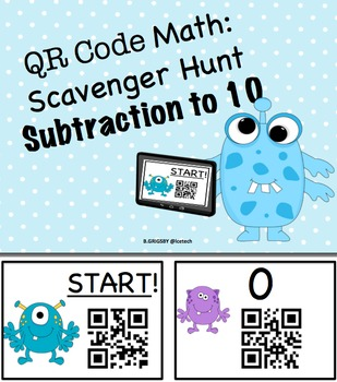 QR Code Addition and Subtraction to 10