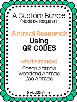 QR Code Animal Research Custom Bundle for Tiffany Rice (1 of 2)