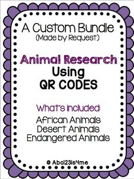 QR Code Animal Research Custom Bundle for Tiffany Rice (2 of 2)