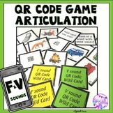 Articulation Game F and V sounds QR Codes
