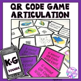 QR Code Articulation Game K and G sounds