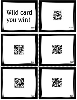 QR Code Articulation Game L sounds and L blends