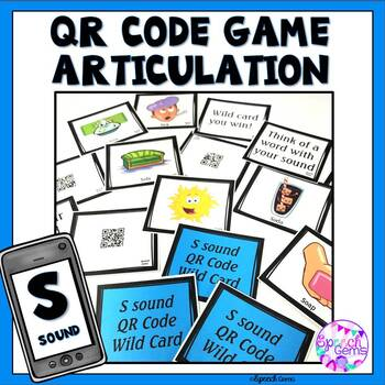QR Code Articulation Game S sounds and S blends