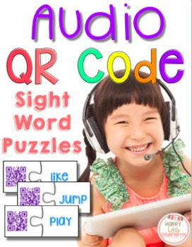 QR Code Audio Sight Word Puzzles