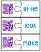 QR Code Audio Sight Word Puzzles