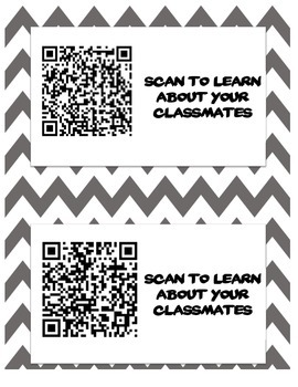 QR Code BINGO - Get to know your classmates