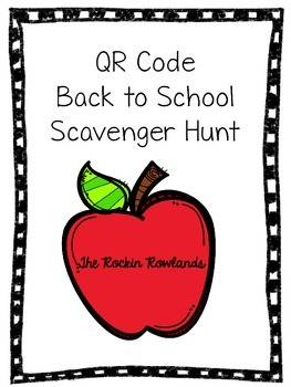 QR Code Back to School Scavenger Hunt