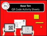 QR Code Base 10 Activity Sheets