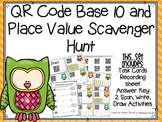QR Code Base 10 and Place Value Scavenger Hunt