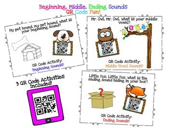 QR Code ~ Beginning, Middle, & Ending Sounds!