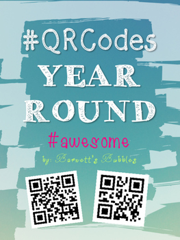 Back to School Classroom Management Behavior QR CODE Coupons {Year Round}