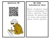 QR Code Biography Hunt