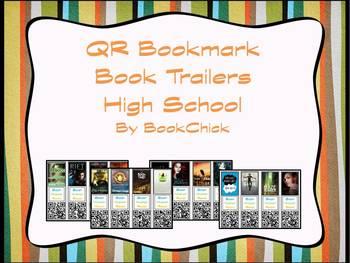 High School QR Code Bookmark Book Trailers Set #1