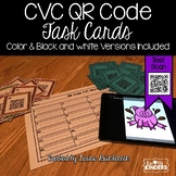 QR Code CVC Word Task Cards #freshsqueezedfriday