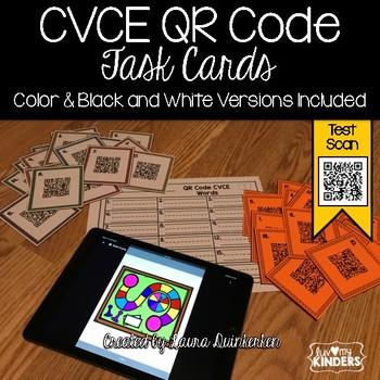 QR Code CVCE Word Task Cards