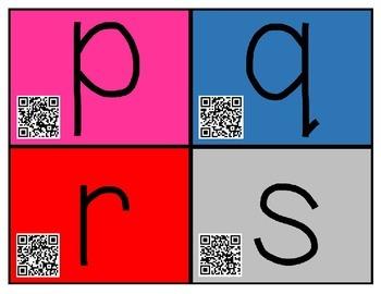 QR Code Cards for Have Fun Teaching Alphabet Videos
