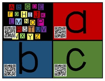 QR Code Cards for Have Fun Teaching Alphabet Videos
