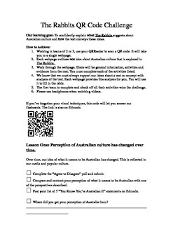 QR Code Challenge for Shaun Tan's picture book The Rabbits