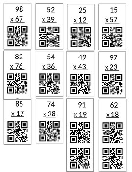 QR Code Check 2 digit by 2 digit