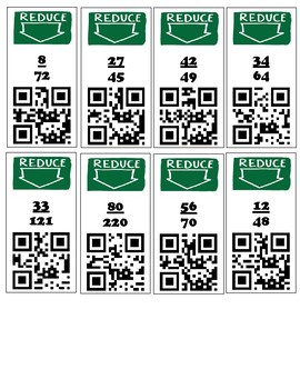 QR Code Check- Reducing fractions