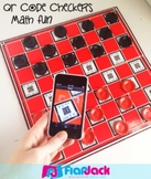 QR Code Checkers Math Fun - FREE - GCF and LCM - Mental Math
