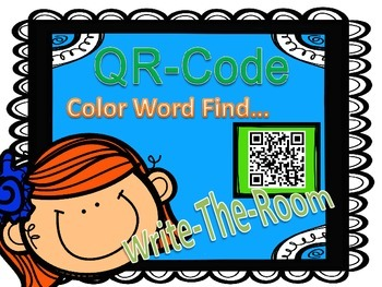 QR Code Color Word Find...Write the Room