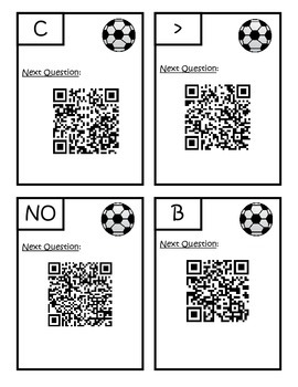 QR Code Comparing Numbers to Hundreds Scavenger Hunt 2.NBT.A.4