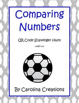 QR Code Comparing Numbers to Hundreds Scavenger Hunt 2.NBT.A.4